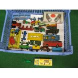 Quantity of loose Lesney and Matchbox items to include: a good box, roof rack and boat for the No.