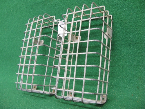 Pair of heavy gauge galvanised wire rear light lens protectors for Land Rover Hi Capacity Pick Up - Image 2 of 2