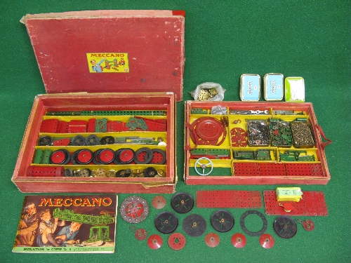 1950 boxed Meccano Set No. 9 with instructions for Outfit 9 and possibly a few extra parts (parts in