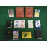 Quantity of playing card packs for Shell Motor Spirit, Daimler Hire, Champion, Oldham Batteries,