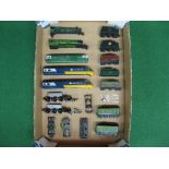 Quantity of OO locomotive body shells, tenders, chassis and bogies by Triang, Hornby, Wrenn and