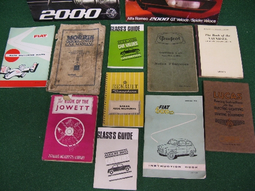 Quantity of car brochures, instruction books etc to include: 1960 Fiat 600D, Renault Dauphine, - Image 2 of 2
