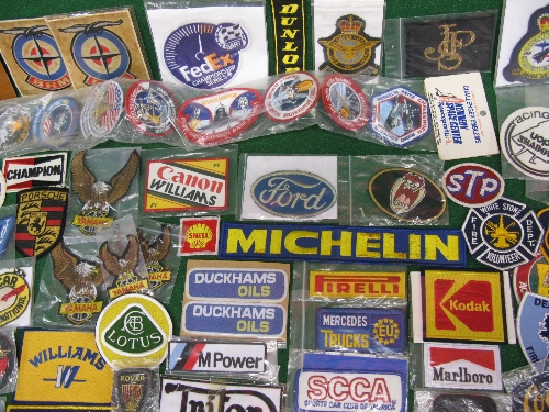 Approx 130 plus items of mainly motoring related embroidered patches Please note descriptions are - Image 2 of 2