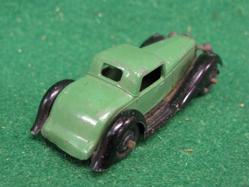 Late 1940's Dinky 36B Bentley in dark green and black Please note descriptions are not condition - Image 2 of 2