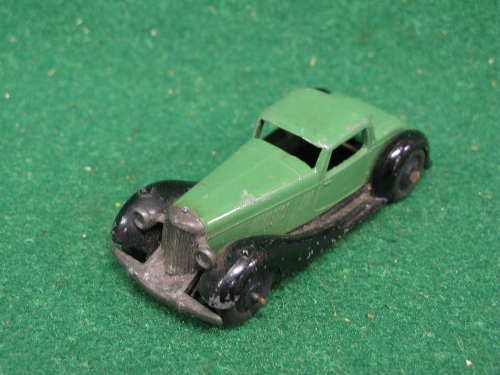 Late 1940's Dinky 36B Bentley in dark green and black Please note descriptions are not condition