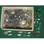 Large quantity of keys of all types from door, cupboard, padlock, deadlock etc Please note