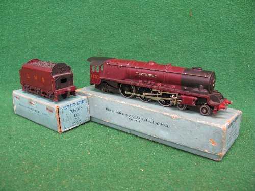 1948 Hornby Dublo 3 Rail EDL2 4-6-2 No. 6231 Duchess of Atholl locomotive and tender in unlined