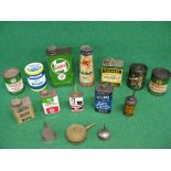 Quantity of oil and grease cans etc to include: unopened Mobilube EP, Castrolease etc Please note
