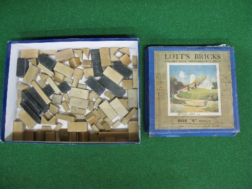 Pre-War Box A of Lott's Bricks, made from real stone (box rough and contents unverified) Please note - Image 2 of 2