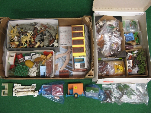 Assorted Britains plastic items to include: farm and zoo animals, figures, equestrian items, - Image 2 of 2