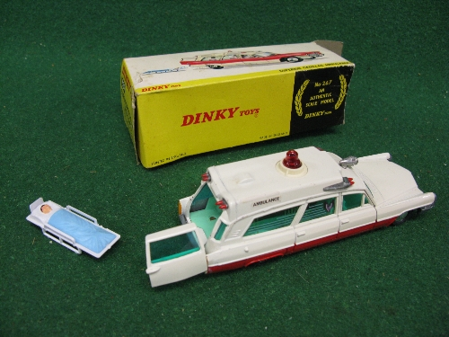 1967-1971 No. 267 Superior Cadillac Ambulance complete with patient on stretcher and partial box