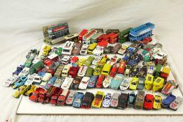 Quantity of play worn diecast models to include Matchbox Lesney, Corgi Whizzwheels etc, circa