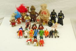 Collection of circa 80?s playworn toys to include Playmobil, 3 x Galoob The A-Team (Mr T,