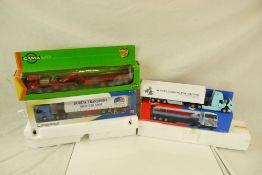Five boxed diecast haulage models to include 2 x Corgi Scammel Contractors, Esso Road Tanker,