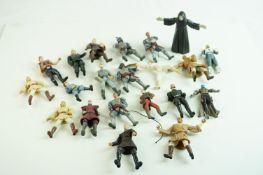 20 x Playworn Hasbro Star Wars action figures to include Mace Windu, Jango Fett, Anakin Skywalker,