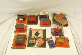 11 Carded & unopened Lundby of Sweden items of dolls house furniture, cards showing some bend but