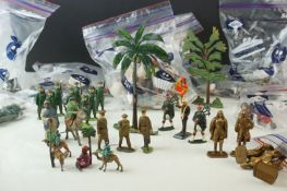 Collection of mid-20th Century figures and soldiers, to include Britains, various regiments,