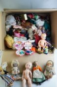 Large quantity of mid 20th C onwards dolls and toys to include 2 x original Polly Pockets, tourist