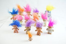 14 x circa 80's-90's Troll figures to include Russ, etc