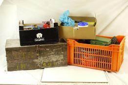 Large quantity of Tonka wheel, plus plastic figures and accessories, and Corgi Sikur, Dinky, etc