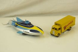 Playworn Corgi diecast Supertoys Guy with Weetabix decals (contempory), in VG condition plus