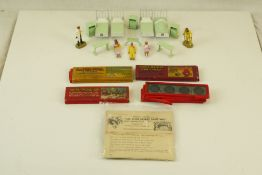 Quantity of loose Britains Hospital figures and accessories, plus 4 x Ensign Limited coloured