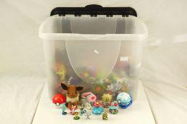 Large quantity of plastic and plush Pokemon figures