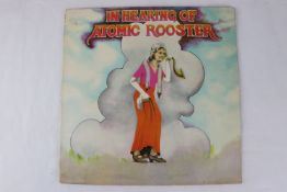 Vinyl - Atomic Rooster In The Hearing Of (PEG 1) gatefold sleeve. Sleeve & Vinyl VG+