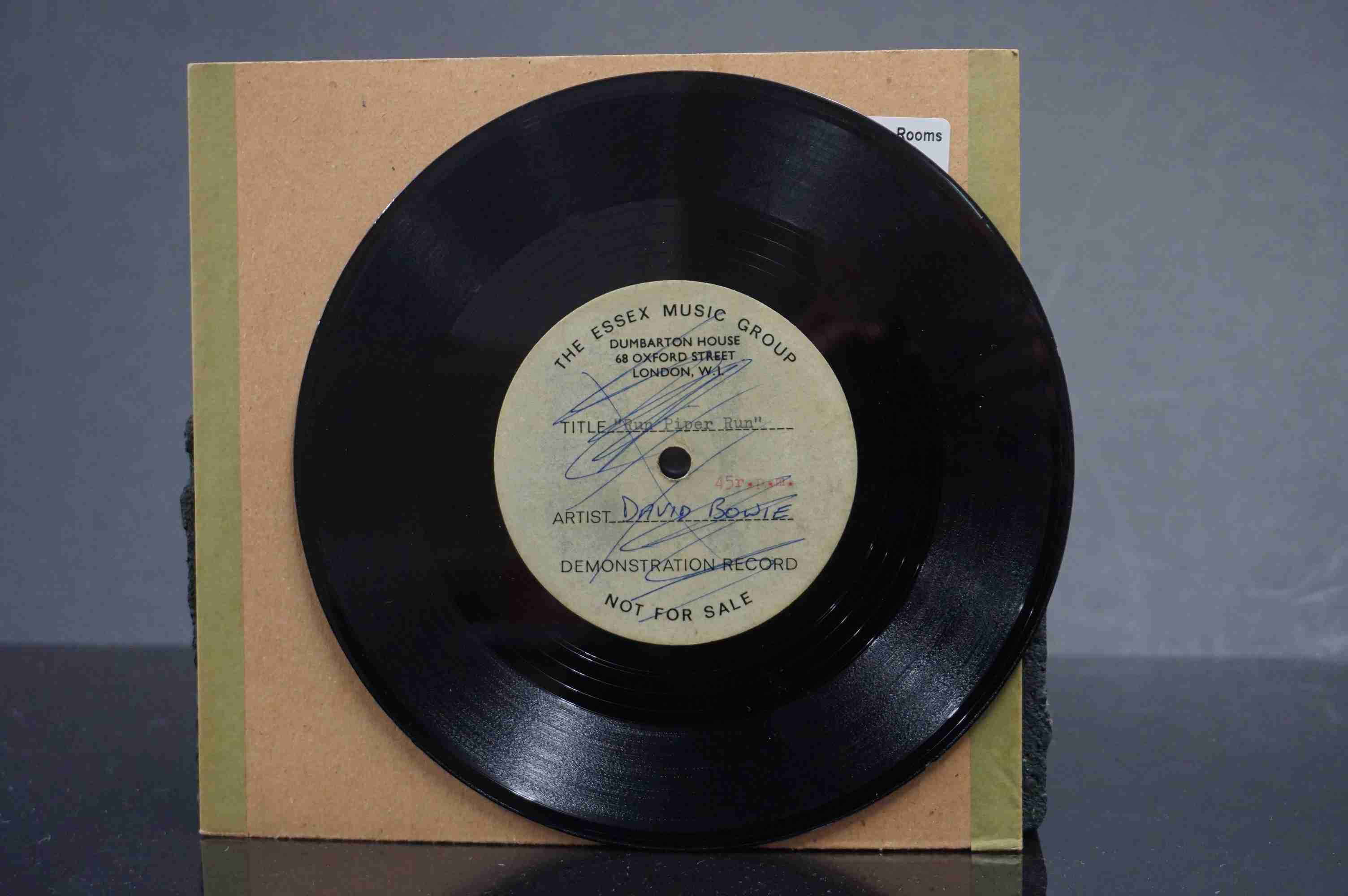 Vinyl - David Bowie / Ace Kefford - A two sided acetate featuring a previously unknown & unheard