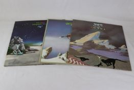 Vinyl - Yes 3 LP's to include Tales From The Topographic Oceans (ATL 80001) German press, Drama (K