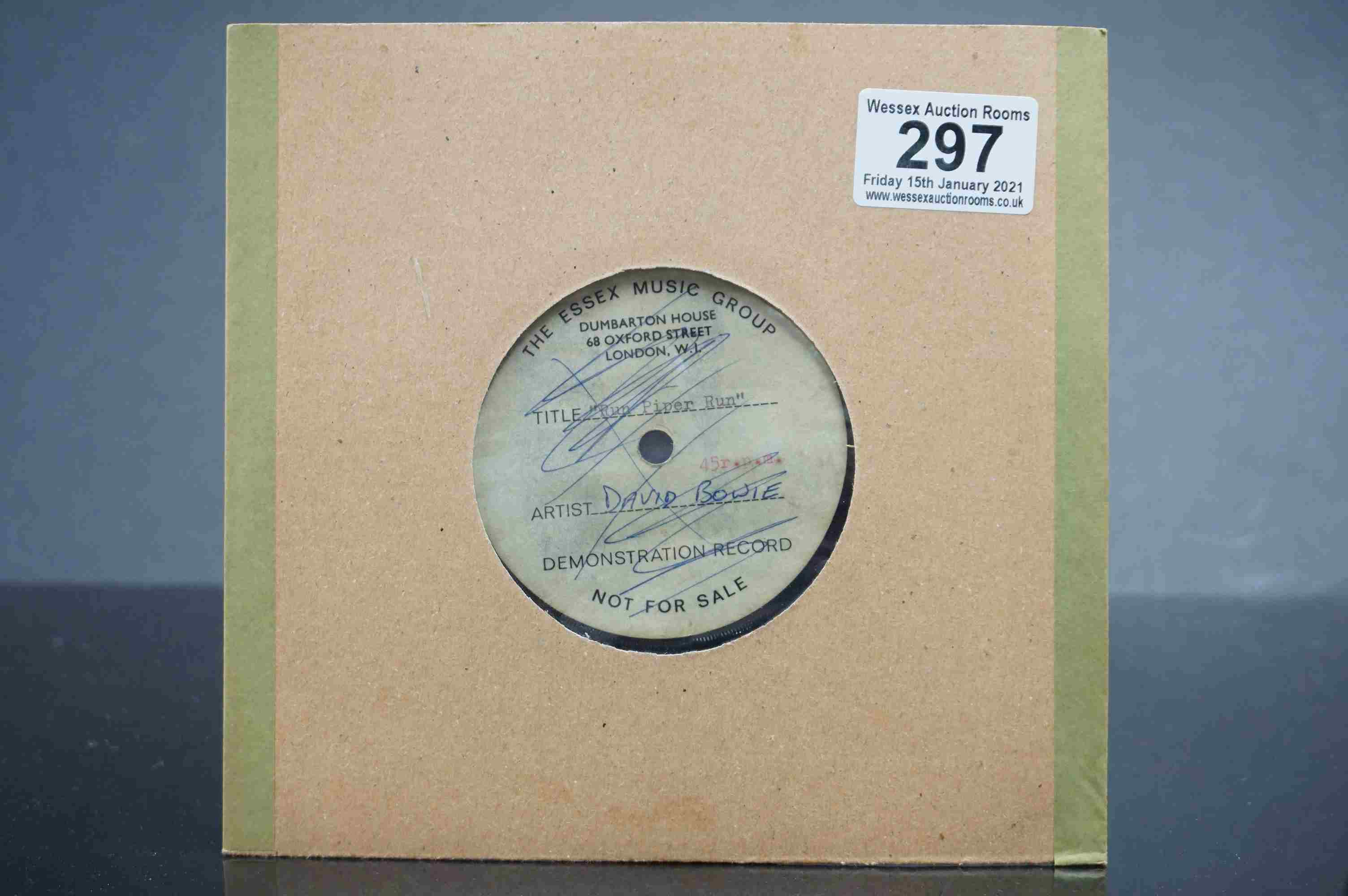 Vinyl - David Bowie / Ace Kefford - A two sided acetate featuring a previously unknown & unheard - Image 9 of 9