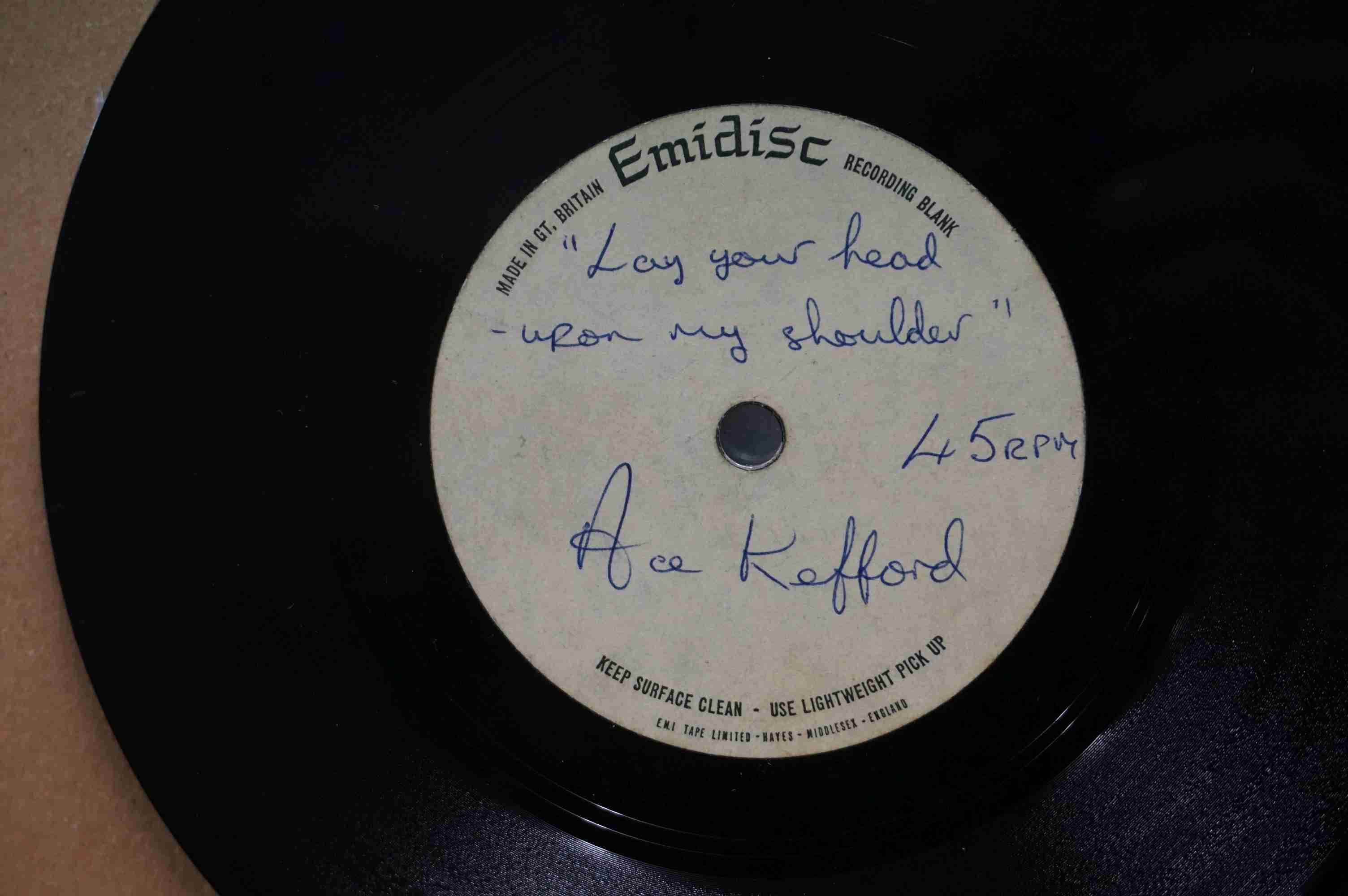 Vinyl - David Bowie / Ace Kefford - A two sided acetate featuring a previously unknown & unheard - Image 7 of 9