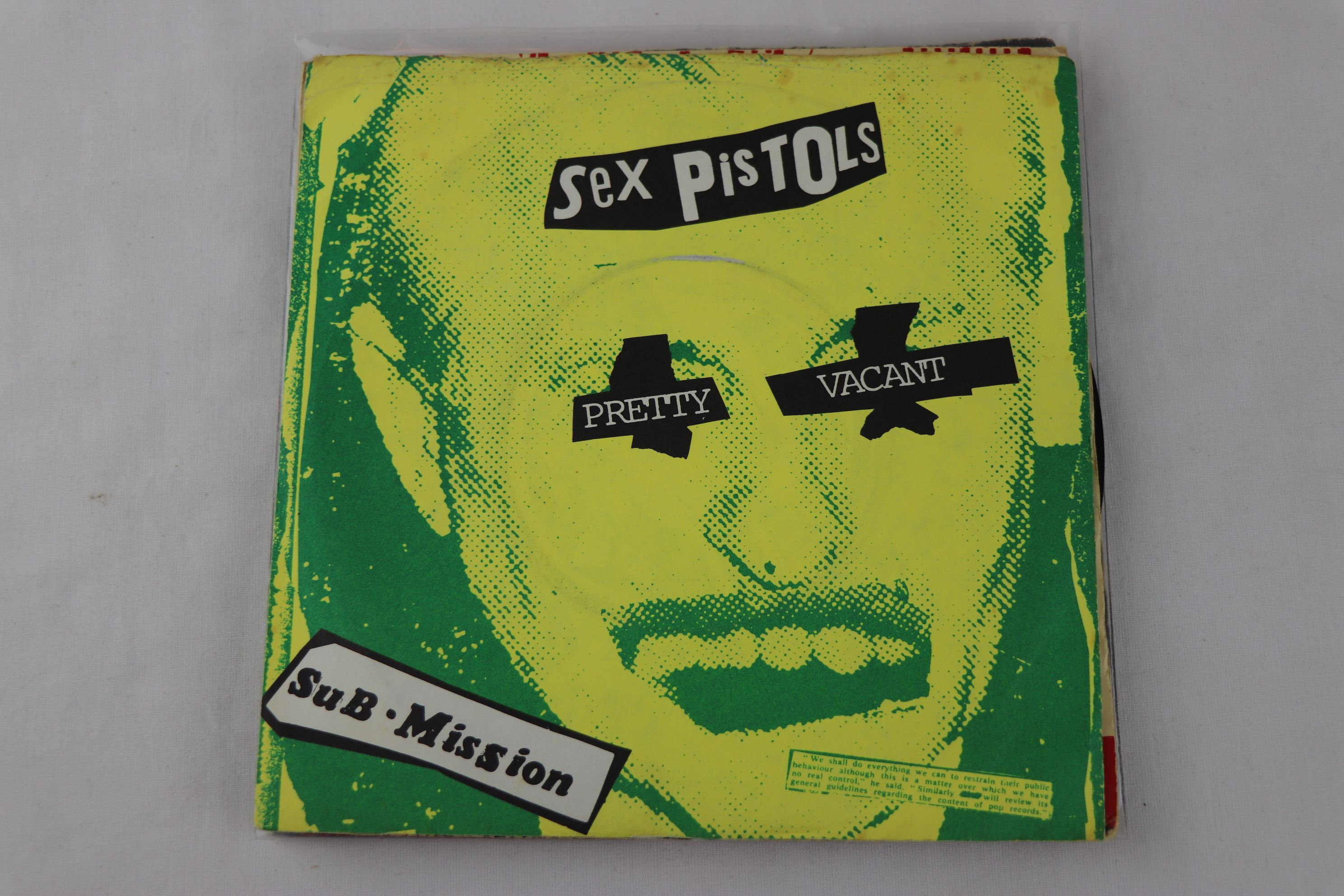 PUNK - SEX PISTOLS - PACK OF 7 ORIGINAL PRESSING SINGLES. 1. GOD SAVE THE QUEEN, 1977 VIRGIN RECORDS - Image 4 of 8