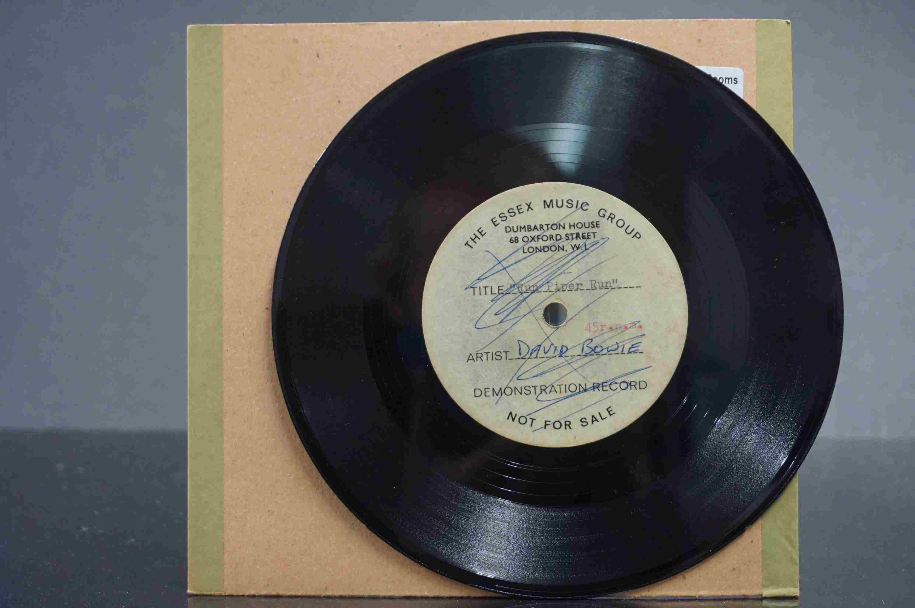 Vinyl - David Bowie / Ace Kefford - A two sided acetate featuring a previously unknown & unheard - Image 4 of 9