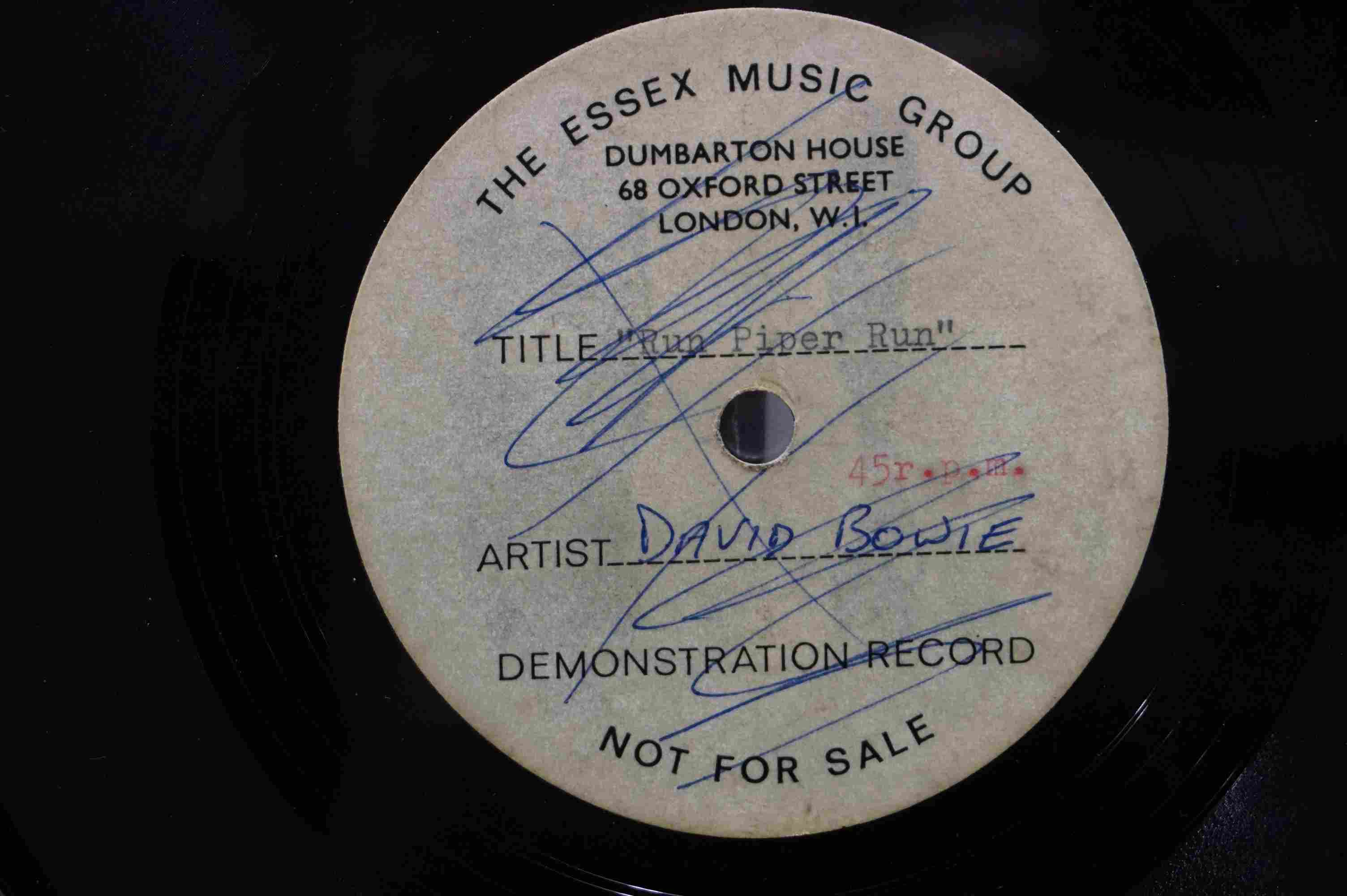 Vinyl - David Bowie / Ace Kefford - A two sided acetate featuring a previously unknown & unheard - Image 5 of 9