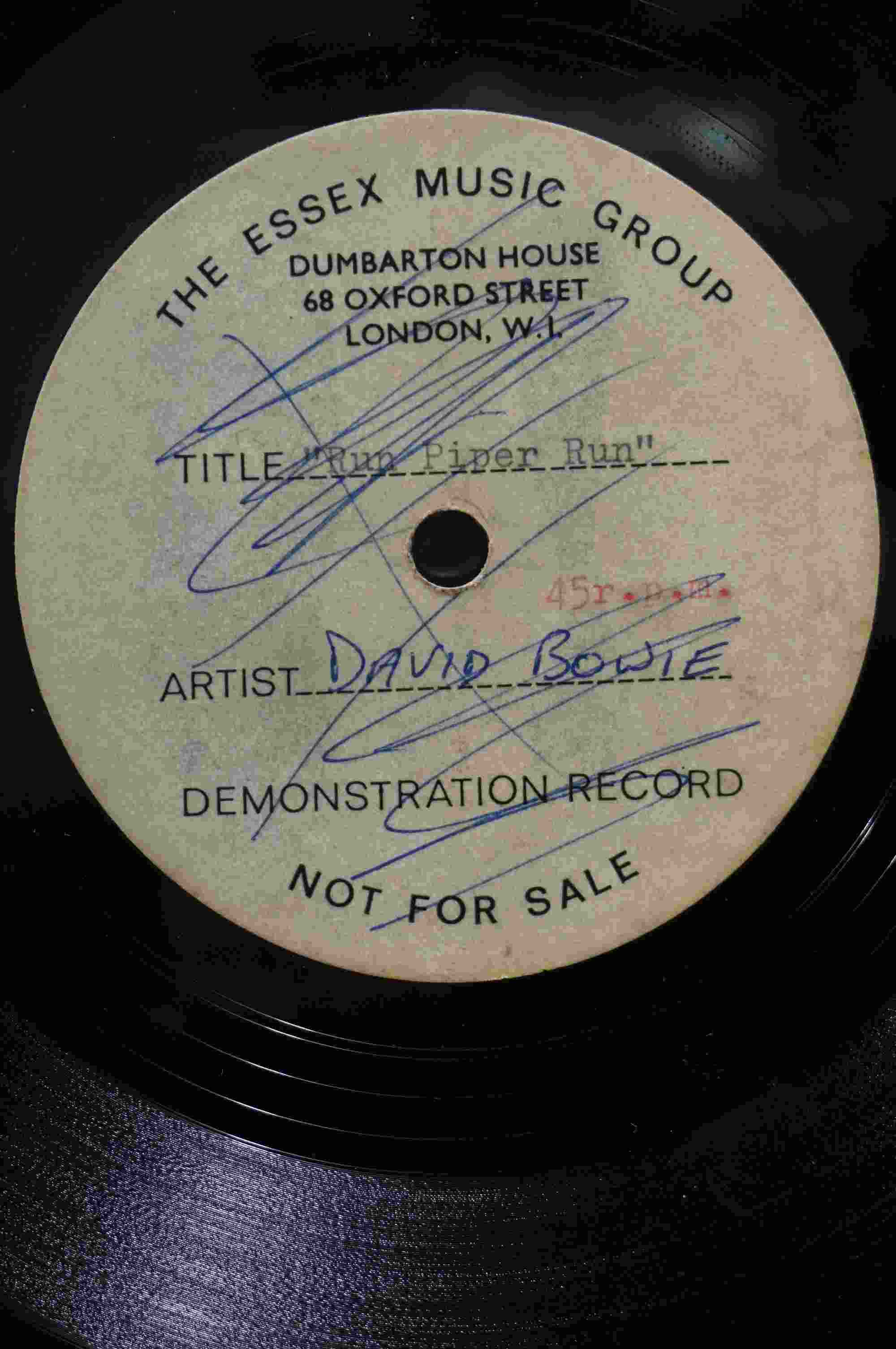 Vinyl - David Bowie / Ace Kefford - A two sided acetate featuring a previously unknown & unheard - Image 2 of 9