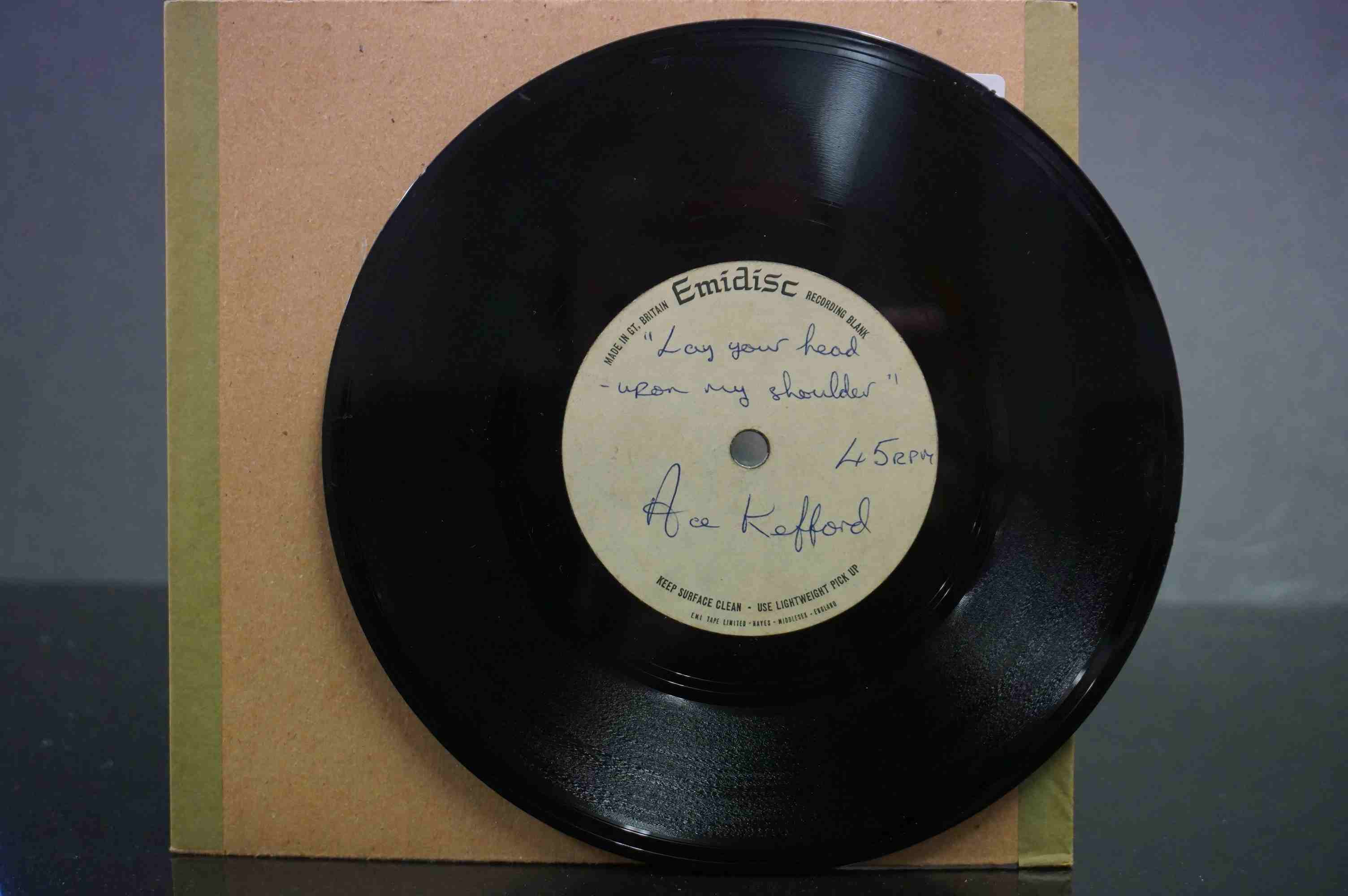 Vinyl - David Bowie / Ace Kefford - A two sided acetate featuring a previously unknown & unheard - Image 6 of 9
