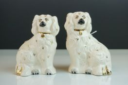 Pair of Royal Doulton Dogs in the form of Staffordshire Mantle Dogs, impressed marks 1378-6 L, 14cms