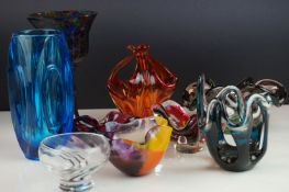Collection of Glassware including Caithness and Studio together with Four Studio Glass Bowls