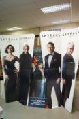 Three Cardboard Cinema Foyer Film Advertising Signs including Two Jams Bond Skyfall and the other
