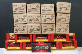 20 x Boxed and carded Mattel Hotwheels Shell diecast models to include 8 x Sunbeam Alpine 5, 5 x BMW