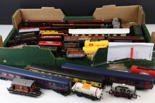 35 Hornby OO gauge items of rolling stock in vg condition to include crane, coaches and wagons