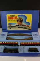 Boxed Hornby Dublo EDP12 Passenger Train appearing complete with Duchess of Montrose locomotive