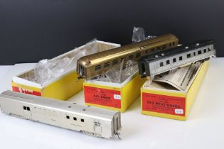 Three boxed E Suydam & Co HO Railroad Equipment items of brass rolling stock to include RR-6 RY Post