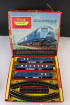 Three boxed Triang Hornby OO gauge train sets to include The Blue Pullman, RS607 Local Passenger Set