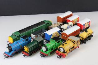 Collection of Hornby Thomas the Tank Engine to include 5 x locomotives (Thomas, Percy, Rusty