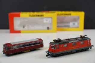 Two boxed Fleischmann OO / HO gauge locomotives to include 4344 & 4405, both with paperwork