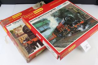 Boxed Hornby R508 Flying Scotsman Set with locomotive, 2 x coaches and track and a boxed Hornby