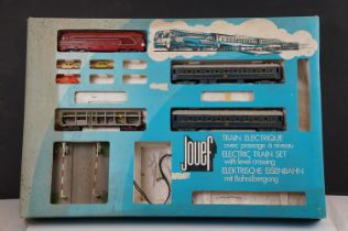 Boxed Jouef OO / HO gauge 7435 train set, incomplete, with locomotive, 3 x items of rolling stock,