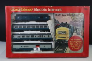 Boxed Hornby OO gauge R544 Inter-City Mail Set appearing complete
